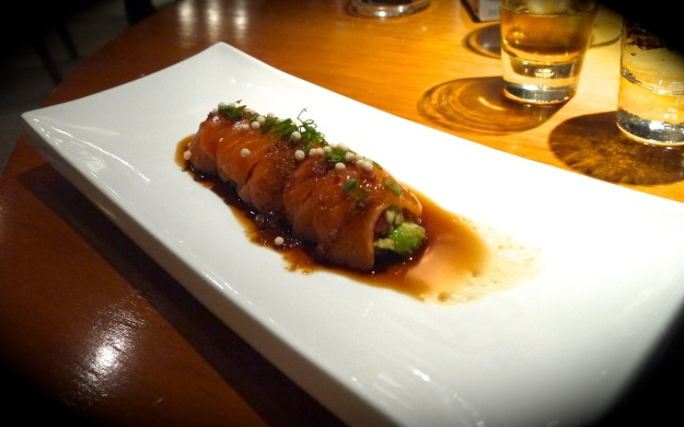 Salmon sashimi | avocado | spicy ponzu sauce