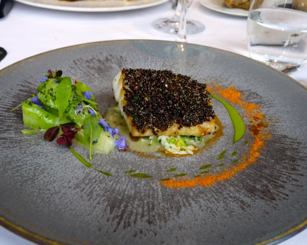 Cornish Turbot | Broccoli Stem, Crab and Black Quinoa