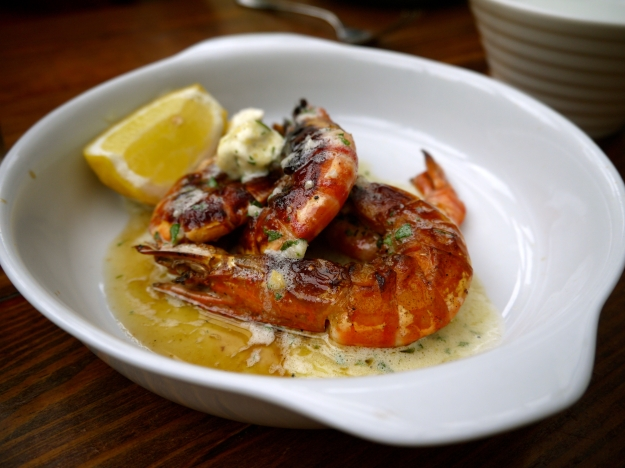 King prawns a la plancha | garlic, parsley & lemon butter