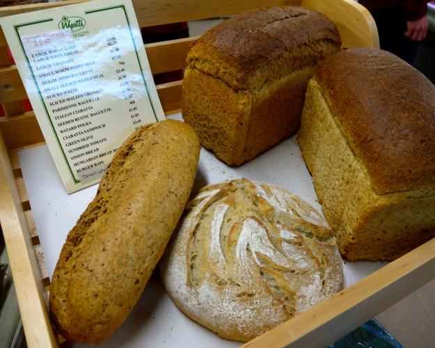 Fresh bread from Wyatt's farm shop