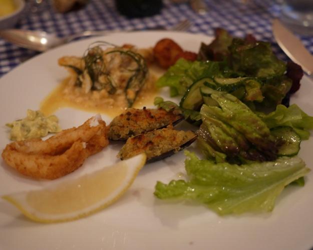 Calamari | Fish Pie | Stuffed Mussels | Garden Greens