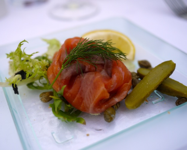 Smoked Scottish salmon |capers, gherkins and lemon