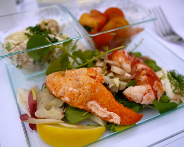 Lobster salad |chicory and artichoke salad