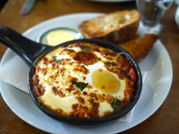 Baked Eggs | cannellini beans, spinach & feta