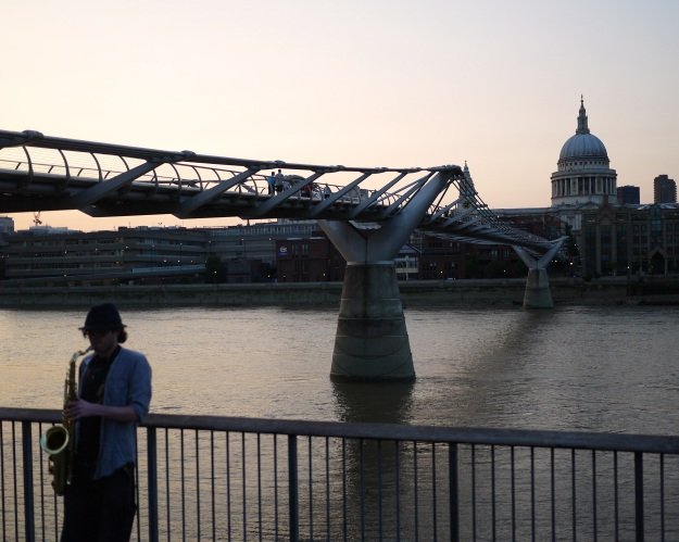 Millennium Bridge | dome of Saint Paul's Cathedral