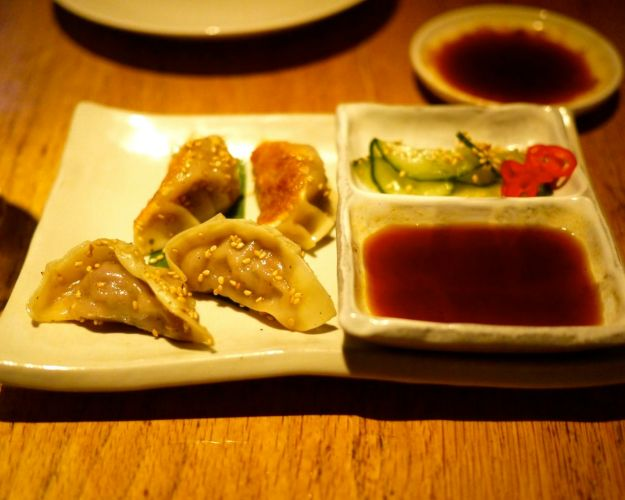 beef, ginger and sesame gyoza