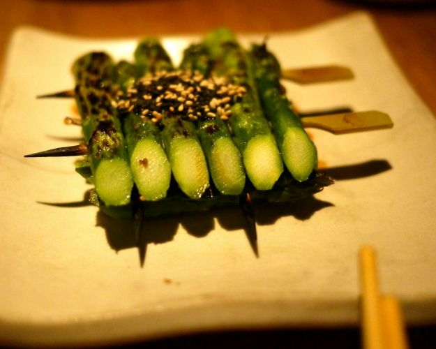 asparagus with sweet soy and sesame