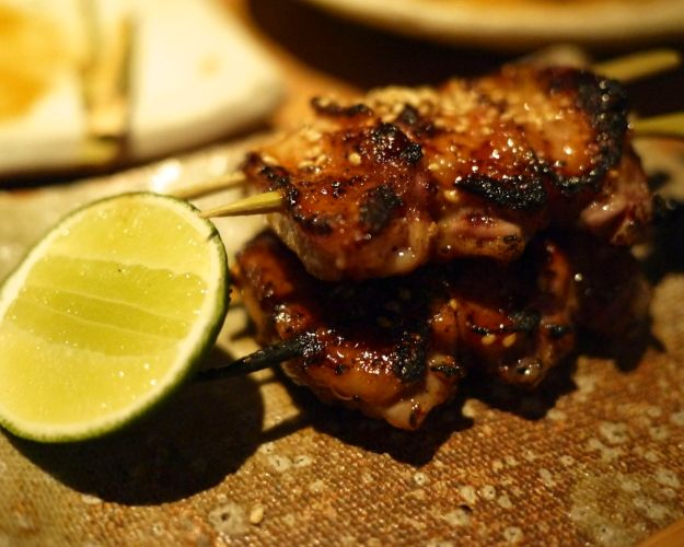 spiced chicken wings with sea salt and lime