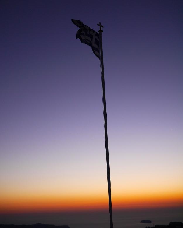 flag dusk