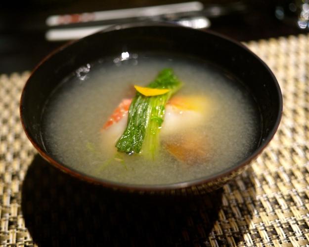 Turnip's mizore soup