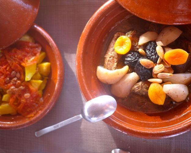 Lamb tagine with prunes and almonds