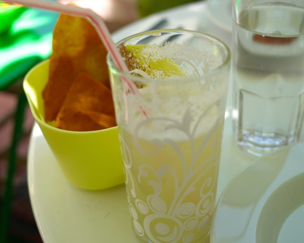 House lemonade - made with a dash of orange blossom water