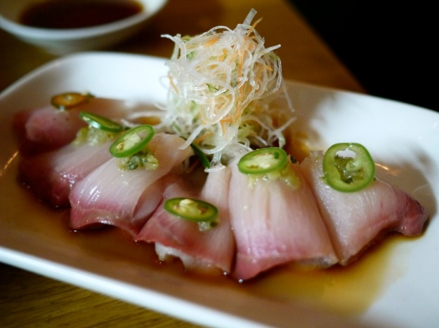 Yellowtail Sashimi | Kizami wasabi salsa and yuzu soy