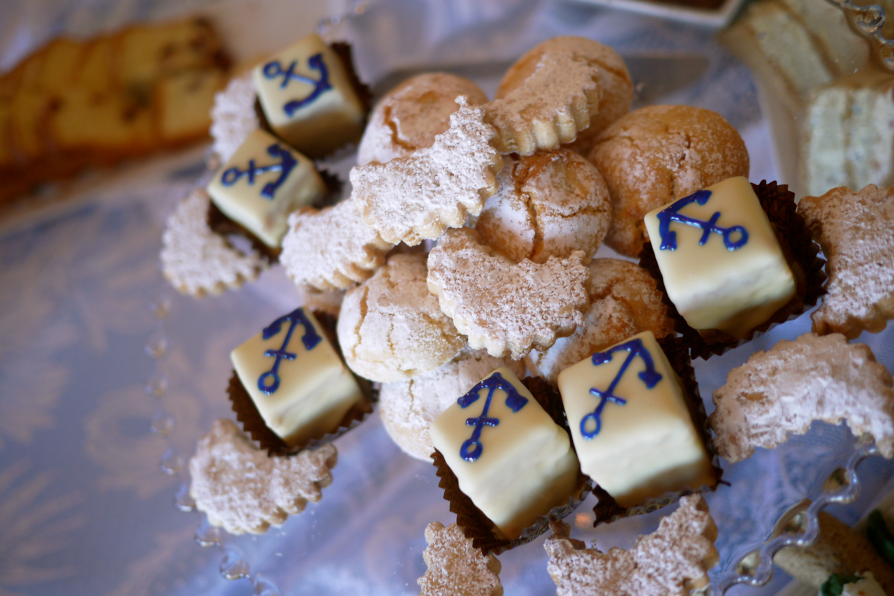 2 and these adorable anchor petit fours