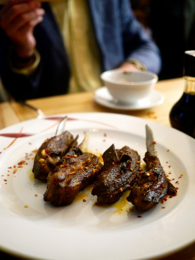 Xinjiang barbecued lamb with cumin, chilli and sesame