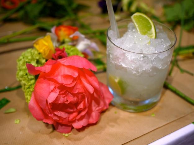 Kate Spade floral demo drink