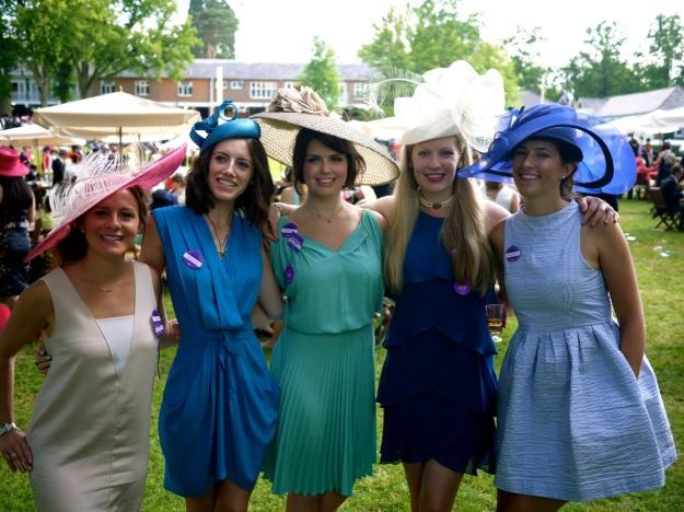 Royal Ascot Ladies outside