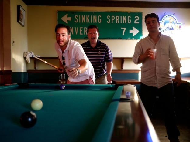 Saloon Pool Table Shot