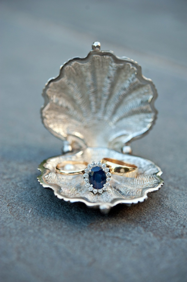 Silvery Seashell Ring Holder from BHLDN