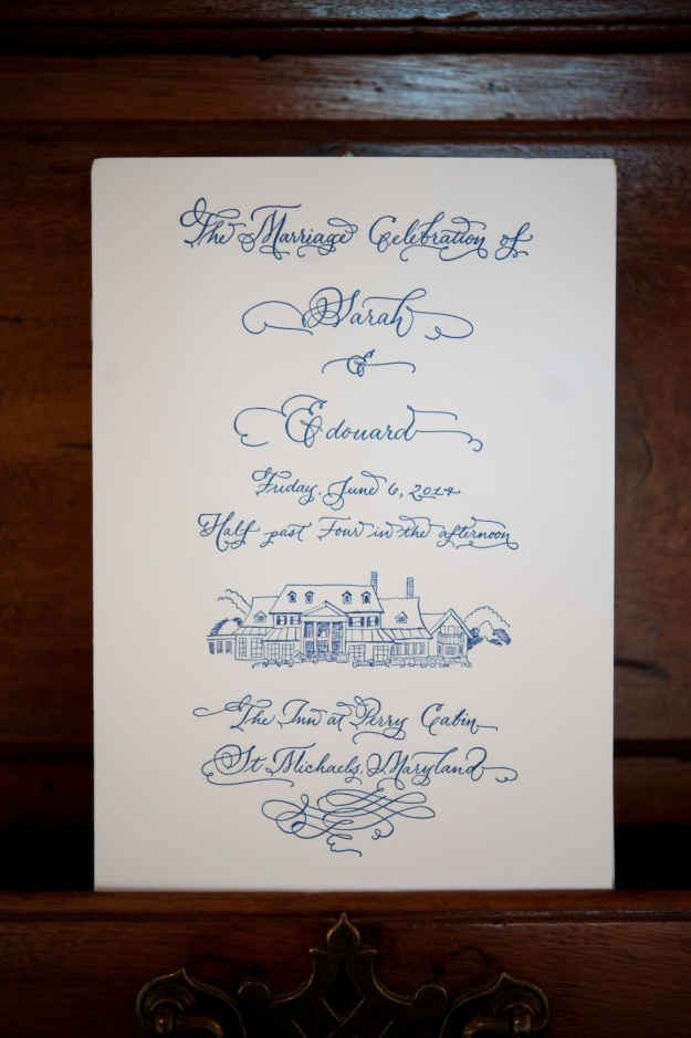 Custom Calligraphy Wedding Program by Laura Lavender
