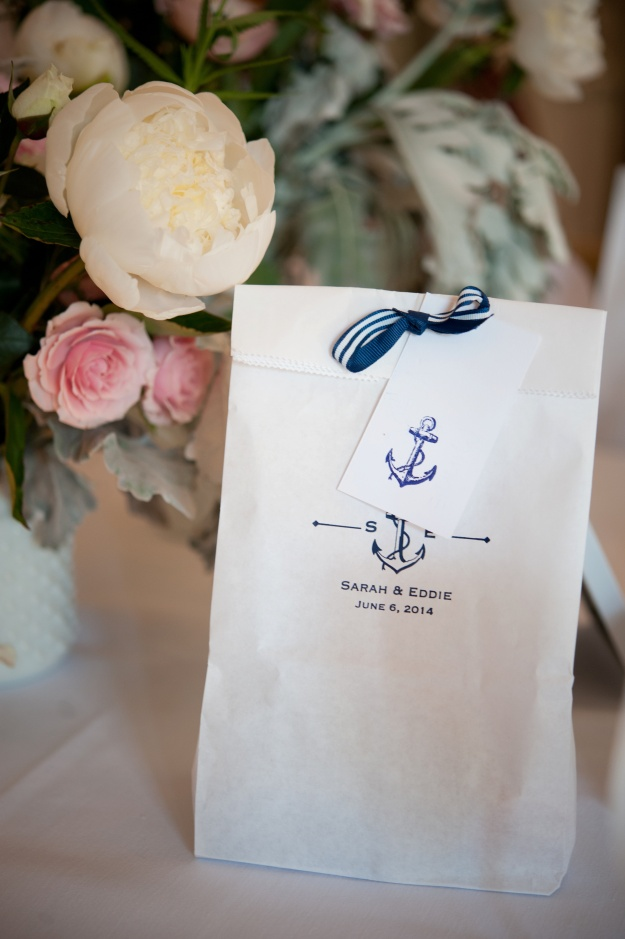 Nautical custom favor bags by Paper Source
