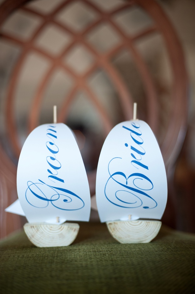 Sailboat Placecards by Third Cloud to the Left on Etsy