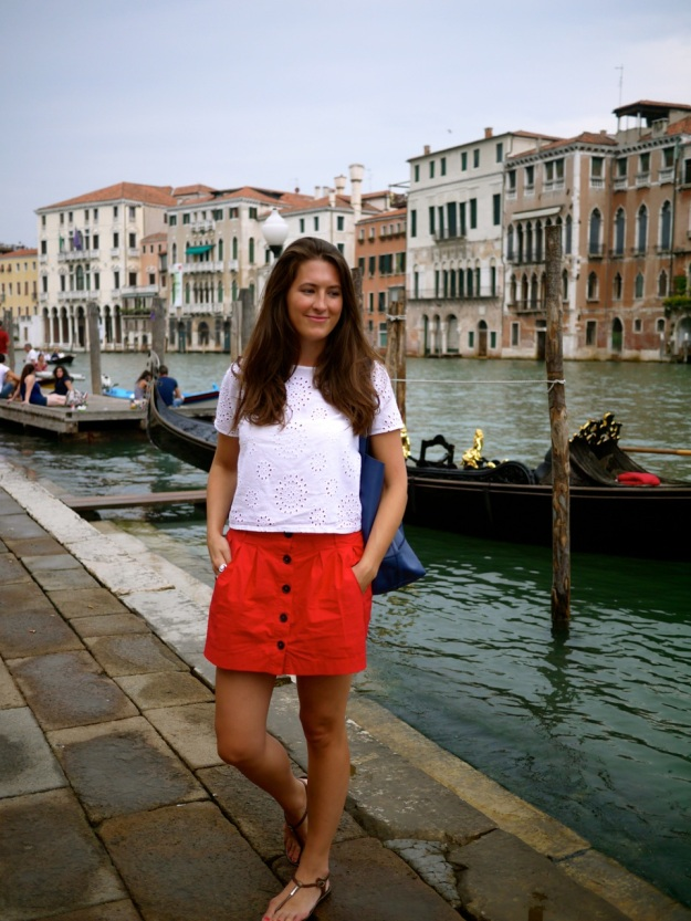 Venice Standing by Gondola