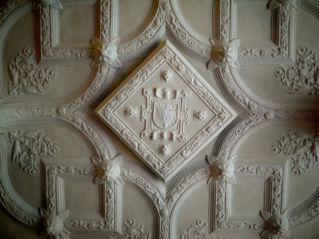 Ornate Plaster Ceiling in The Great Parlour