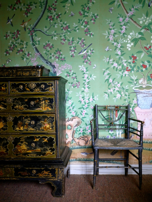 Broughton Castle Bedroom Wallpaper Chair
