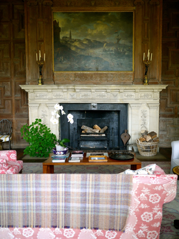 Broughton Castle Sitting room fireplace
