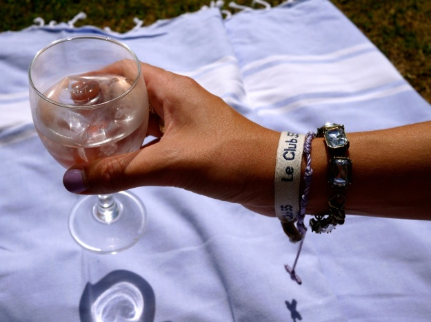 Miraval Rose Wine glass Fulham Palace Picnic