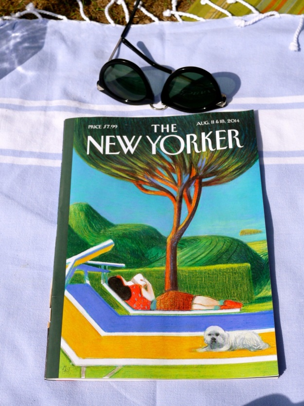 New Yorker Picnic Blanket