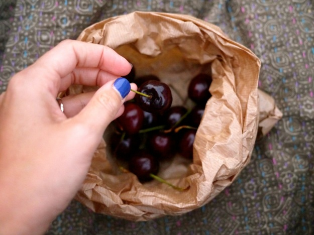 Picnic Blanket Food Cherries