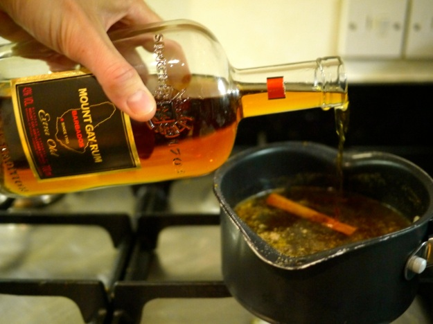 Hot Mulled Cider Step 3 Rum