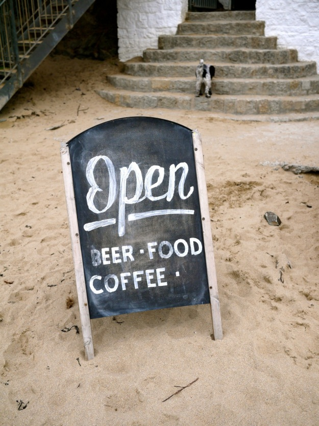 Polzeath Surfside Open Sign
