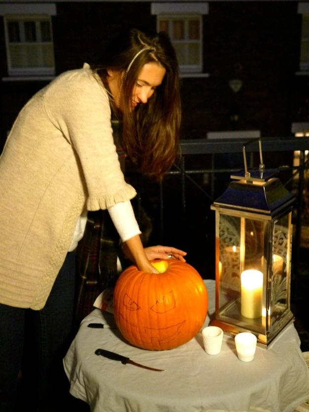 Pumpkin Step 3 remove Seeds