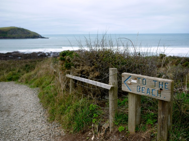 St Moritz Coastal Path Beach Sign
