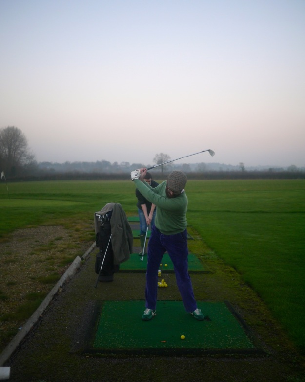 Cotswold Golf Course Driving Range Swing