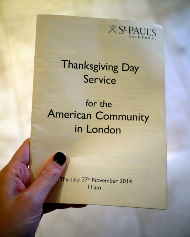 St Pauls Cathedral Thanksgiving Program