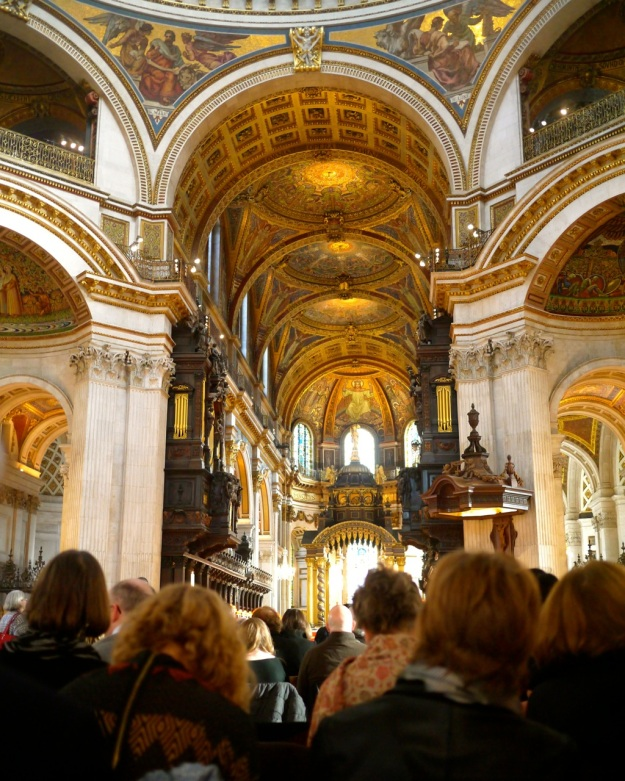 St Pauls Cathedral Thanksgiving Service Inside
