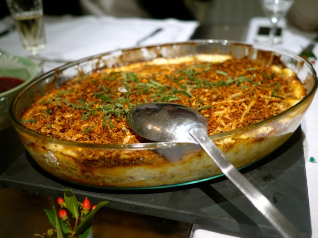 Sweet potato and sage gratin with parmesan breadcrumbs
