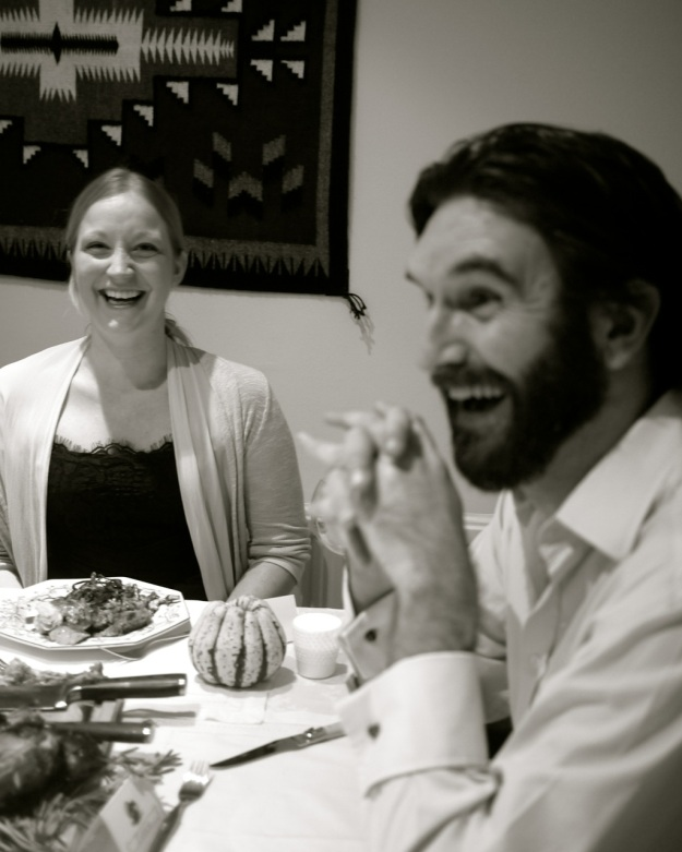 Thanksgiving TABLE Laughs BW