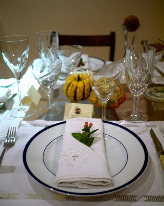 Thanksgiving Table Place Setting