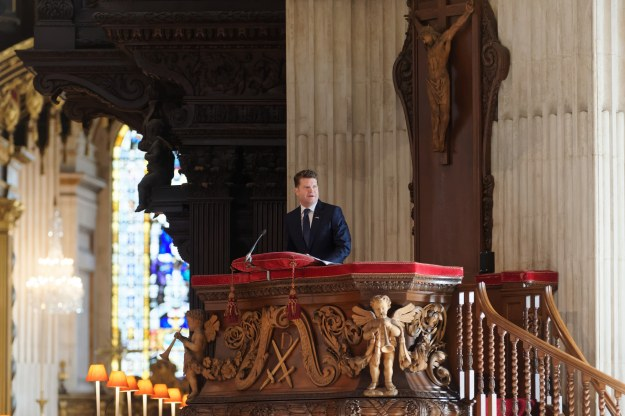 1 Thanksgiving St Pauls Ambassador Barzun delivers his address