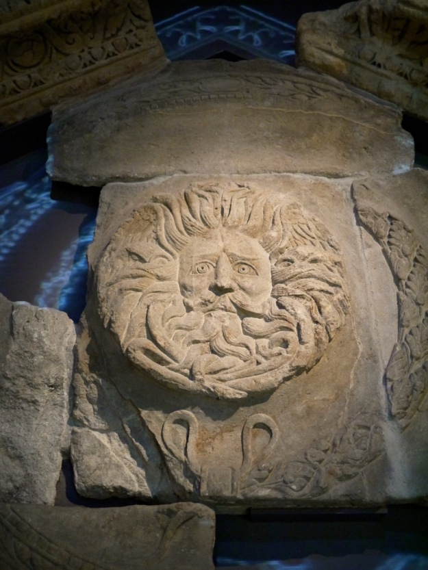 Bath Roman Baths Sun Head God Freize Temple