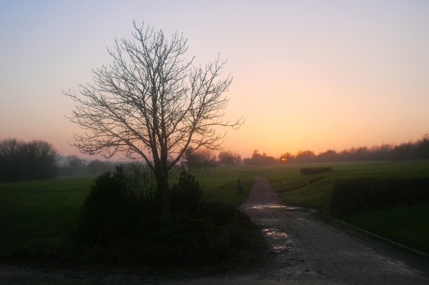 Cotswold Sunset Golf Course Path