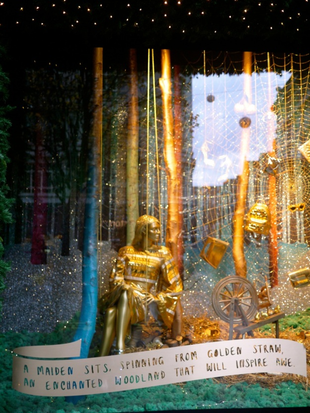 Selfridges Window Display Gold Fairytale