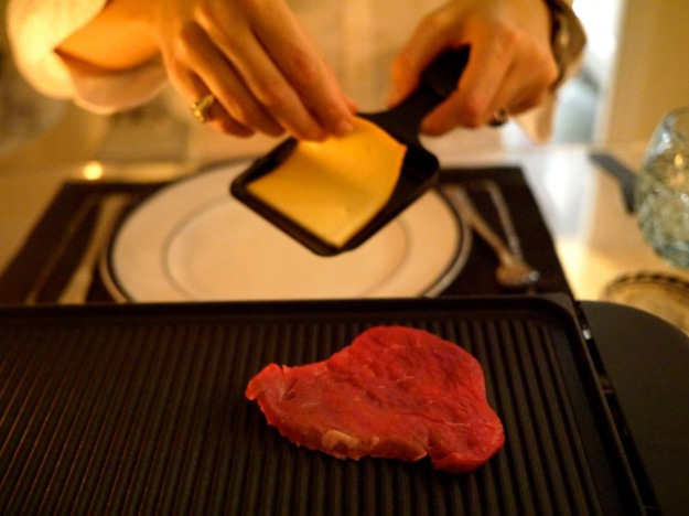 Raclette Cheese and Steak