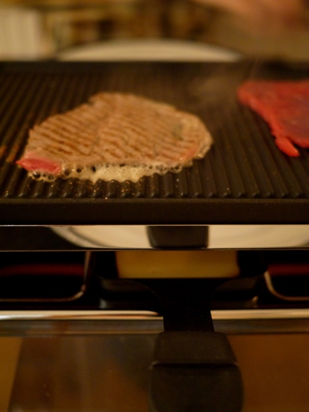 Raclette Steak Sizzling