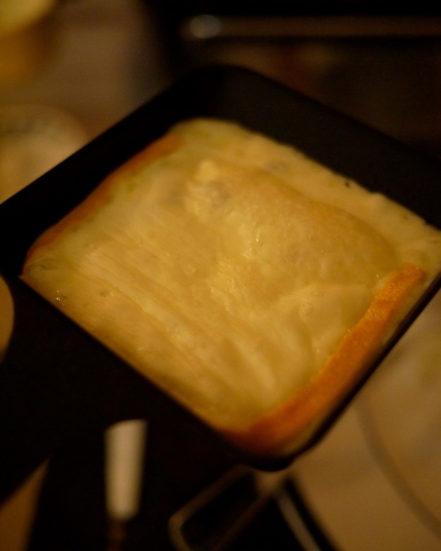 Raclette Tray Melted